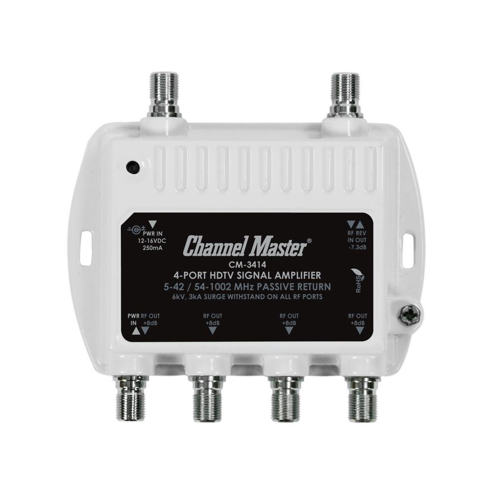 medium resolution of 4 port ultra mini distribution amplifier tv signal booster and splitter