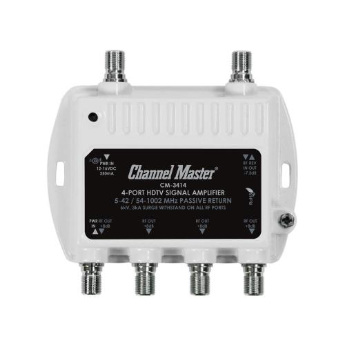 small resolution of 4 port ultra mini distribution amplifier tv signal booster and splitter