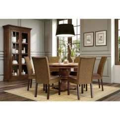Rustic Leather Living Room Furniture Rug Sale Dining Chair Chairs Kitchen Ibiza Brown Set Of 2