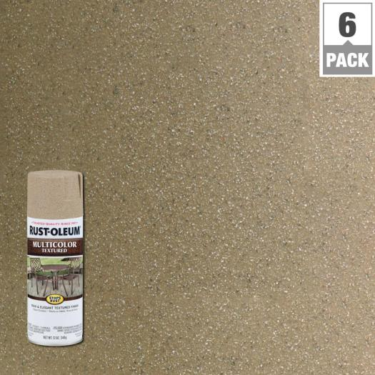 Rust Oleum Stops 12 Oz Desert Bisque Protective Enamel Multi Colored Textured