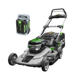 56 volt lithium ion cordless battery walk behind push mower 5 0 ah battery charger included [ 1000 x 1000 Pixel ]