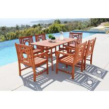 Vifah Malibu 7-piece Rectangle Patio Dining Set-v189set15