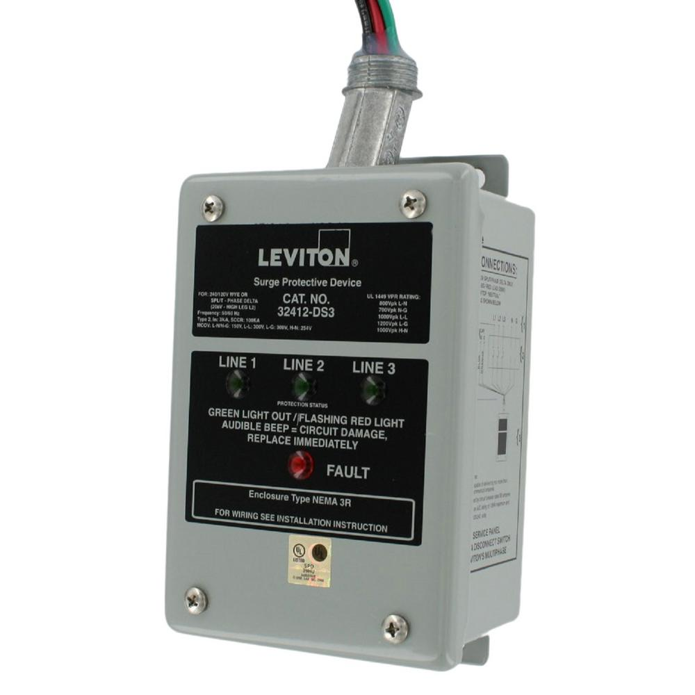 medium resolution of leviton 120 240 120 volt hi leg split phase delta surge panel