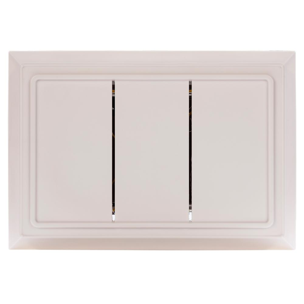 medium resolution of hampton bay wired door chime in white