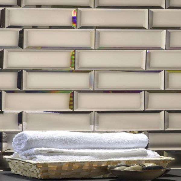 Peel and Stick Mirror Tiles Backsplash