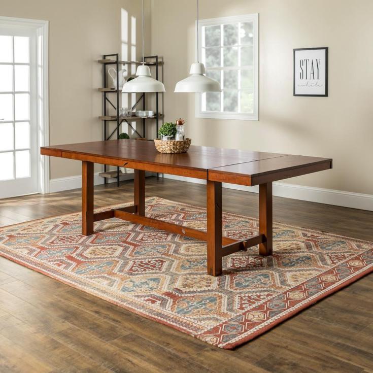 walker edison furniture company huntsman dark oak extendable dining