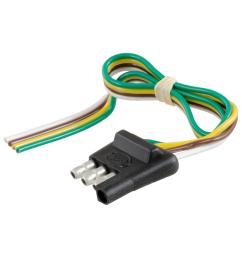 curt 4 way flat connector plug with 12 wires trailer side 58030 wiring connector for trailer wiring connectors for trailer [ 1000 x 1000 Pixel ]