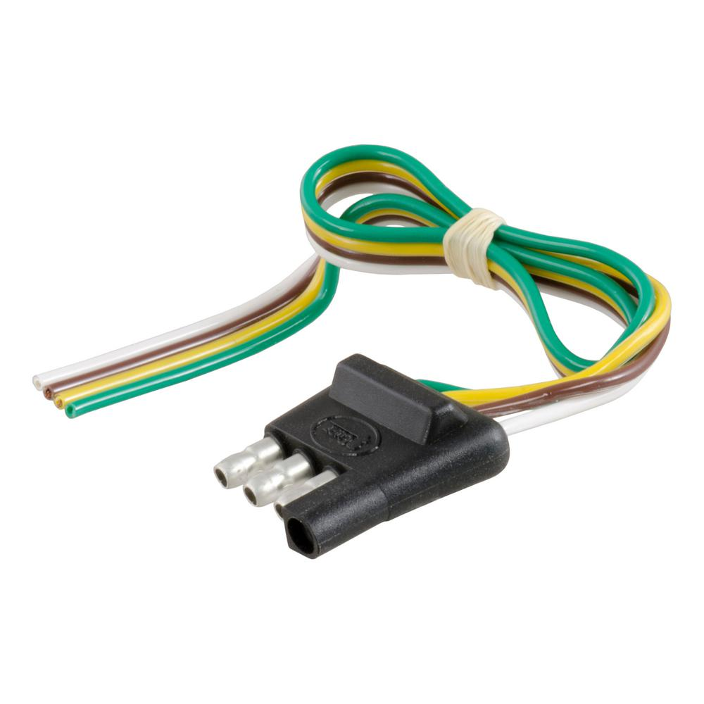 hight resolution of curt 4 way flat connector plug with 12 wires trailer side 58030 wiring connector for trailer wiring connectors for trailer