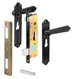 prime line security screen or storm door lever set diecast black [ 1000 x 1000 Pixel ]