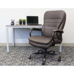 Brown Computer Chair Dining Room Chairs On Wheels Office Home Furniture The Depot