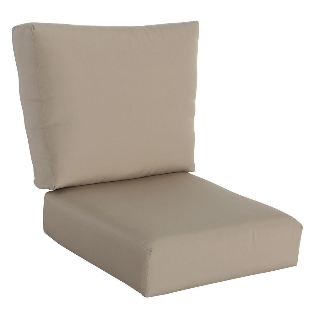 lounge chair cushions cheap la z boy lift repair parts hampton bay mill valley 24 x 25 outdoor cushion in standard beige