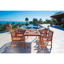Vifah English Garden Eucalyptus 5-piece Patio Dining Set
