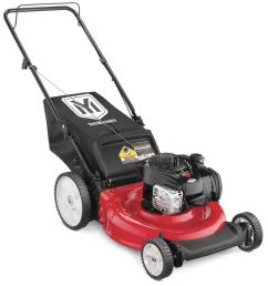 yard machines 21 in 140 cc ohv briggs and stratton walk behind gas push mower [ 1000 x 1000 Pixel ]