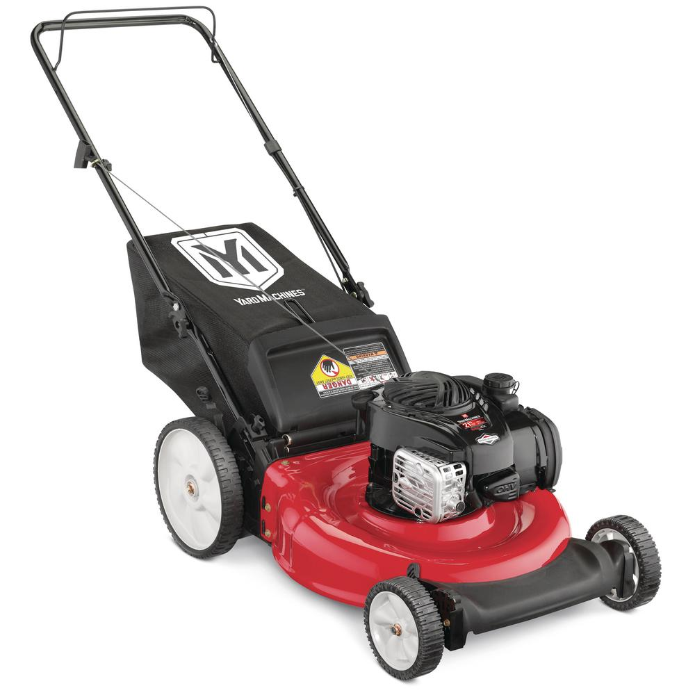 hight resolution of yard machines 21 in 140 cc ohv briggs and stratton walk behind gas push mower