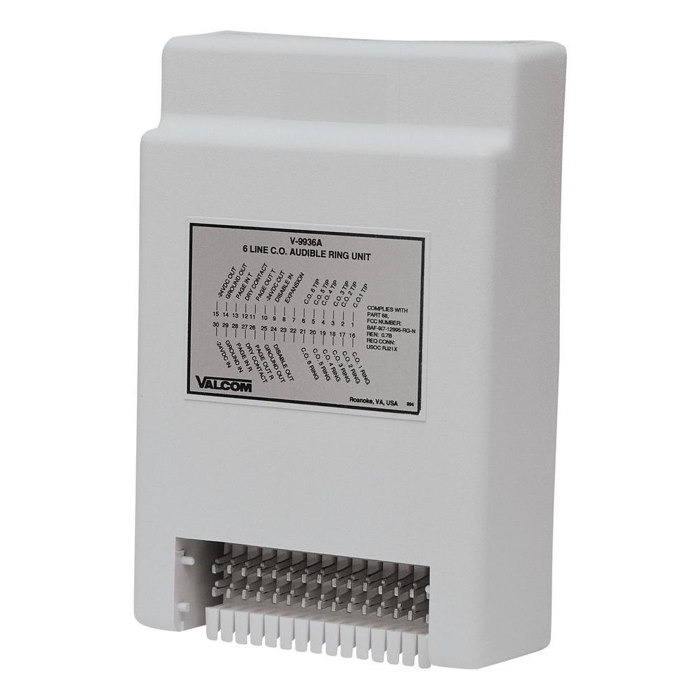 medium resolution of valcom 6 line audible ring unit