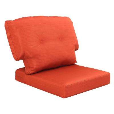 chair cushion cover italian leather chairs dining outdoor cushions the home depot charlottetown quarry red replacement