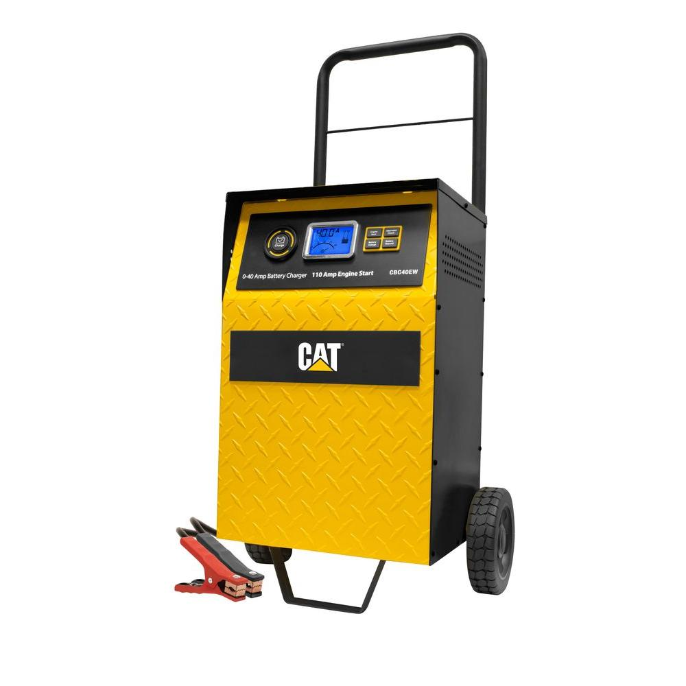 hight resolution of cat 40 amp wheel charger with 110 amp engine start