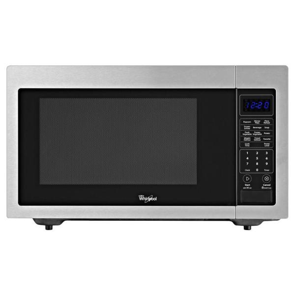 Whirlpool 1.6 Cu. Ft. Countertop Microwave In Stainless Steel Built-in Capable With Sensor