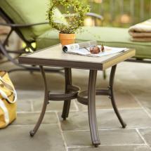 Hampton Bay Pembrey Patio Accent Table-hd14217 - Home