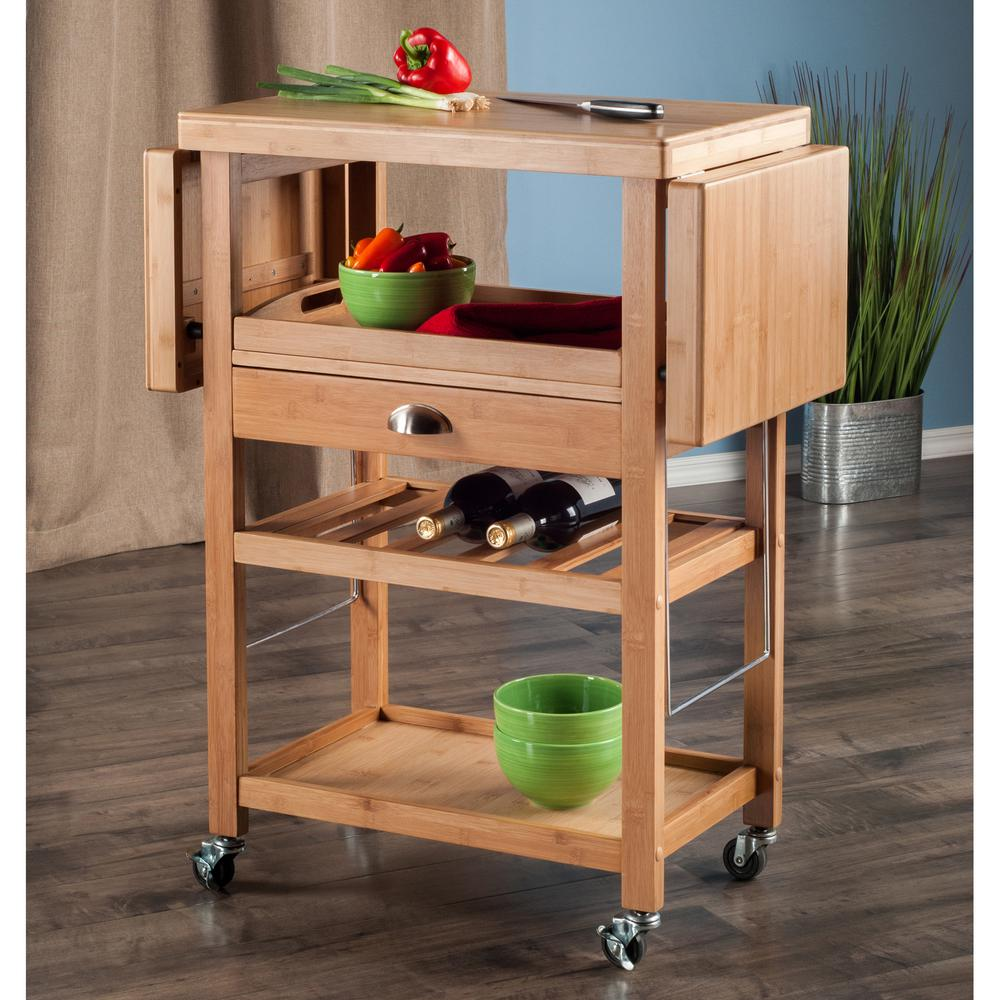 drop leaf kitchen cart stonewall coupons winsome wood barton bamboo with 80434 the