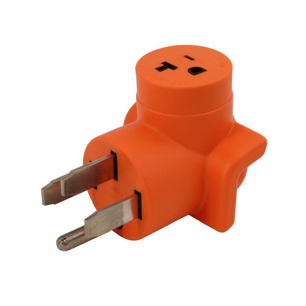 hight resolution of ac works plug adapter nema 14 50p 50 amp range rv generator outlet