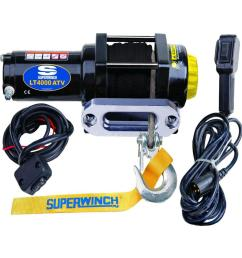 superwinch lt4000 12 volt atv sr winch with 50 foot dyneema synthetic rope  [ 1000 x 1000 Pixel ]