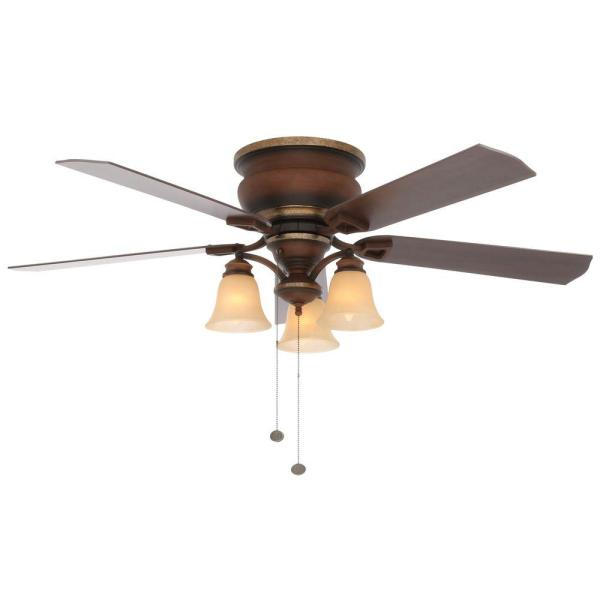 Hampton Bay Eastvale 52 In. Indoor Berre Walnut Ceiling Fan With Light Kit-14413 - Home Depot