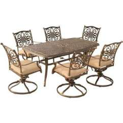 High Top Table With 6 Chairs Heated Stadium Backs Person Patio Dining Sets Furniture The Home Depot Traditions