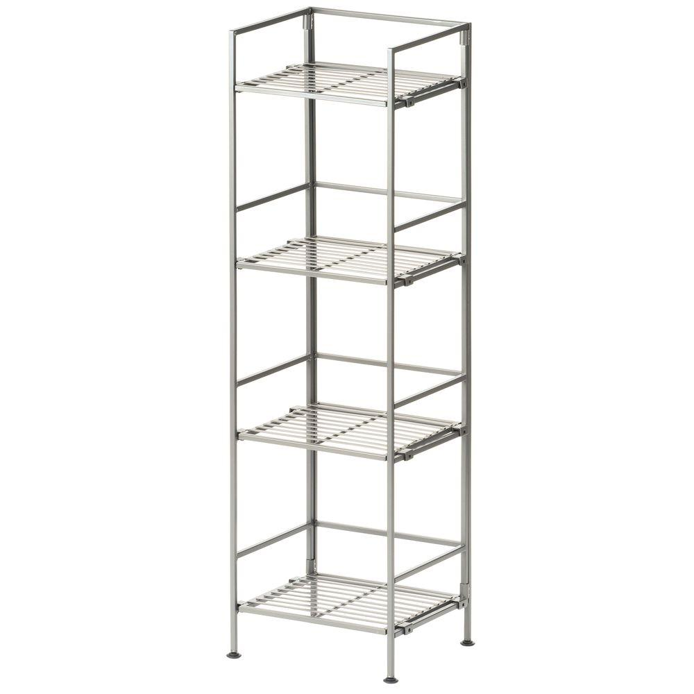 Seville Classics 4-Tier 13 in. Iron Square Tower Shelf