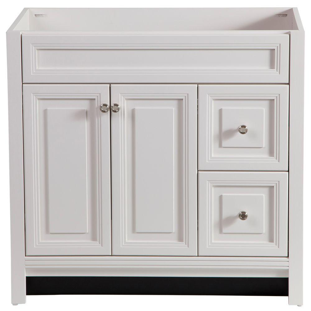 Home Decorators Collection Brinkhill 48 In W X 34 In H X 22 In D Bath Vanity Cabinet Only In Cream Bwsd4821 Cr The Home Depot