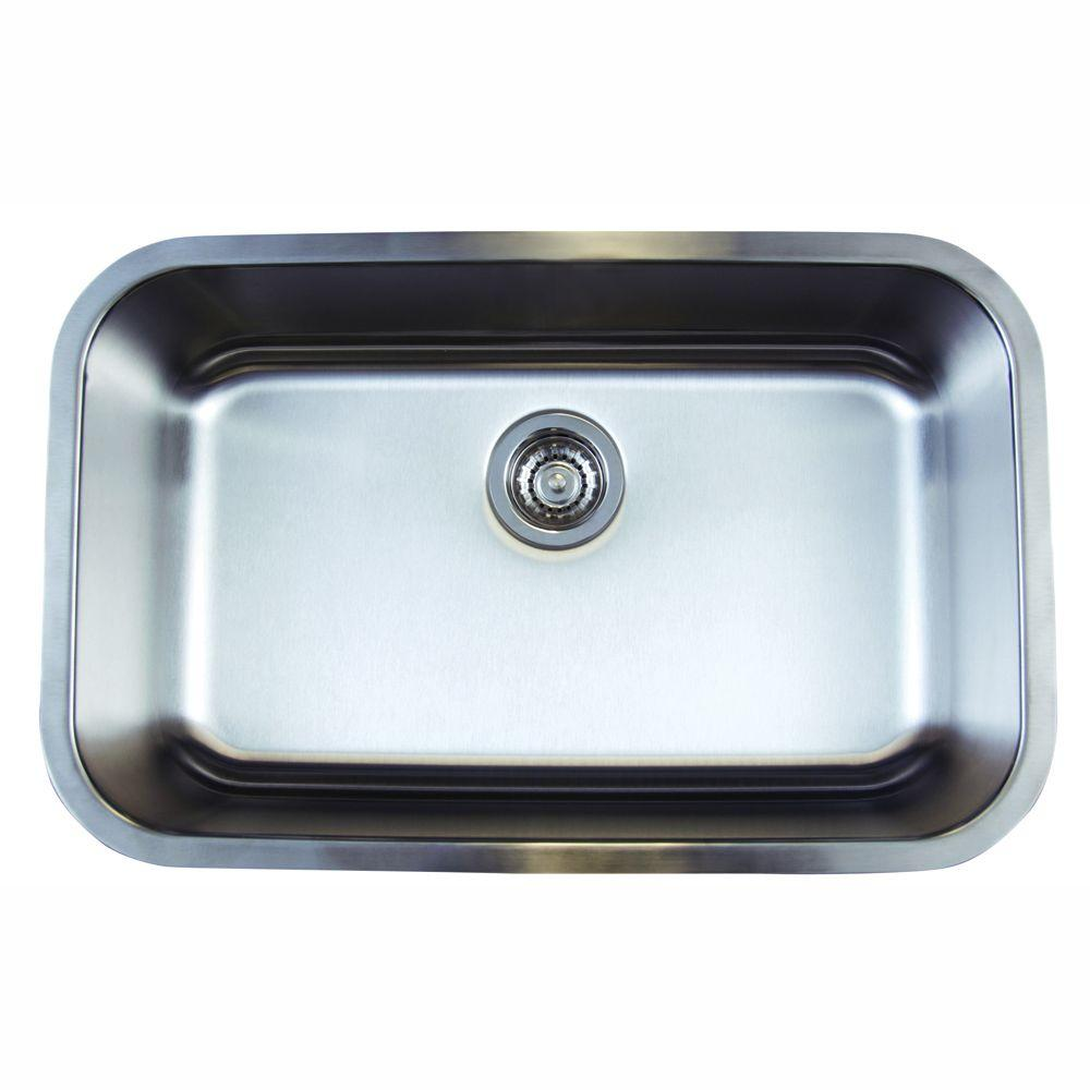 single bowl stainless kitchen sink custom cabinet doors blanco stellar undermount steel 28 in 0 hole super
