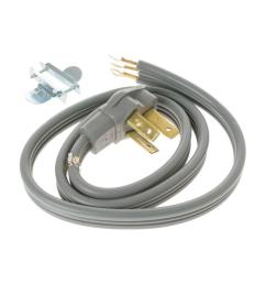 ge 4 ft 3 prong 40 amp electric range cord wx09x10006 the home depot wire 4 ft electric range cord 50 amp 3 wire 4 foot electrical cord [ 1000 x 1000 Pixel ]