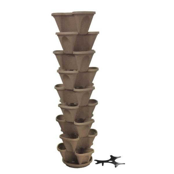 Nancy Jane 12 In. Watering Stone Stacking Planter Set 9-pack -p10619pk - Home Depot