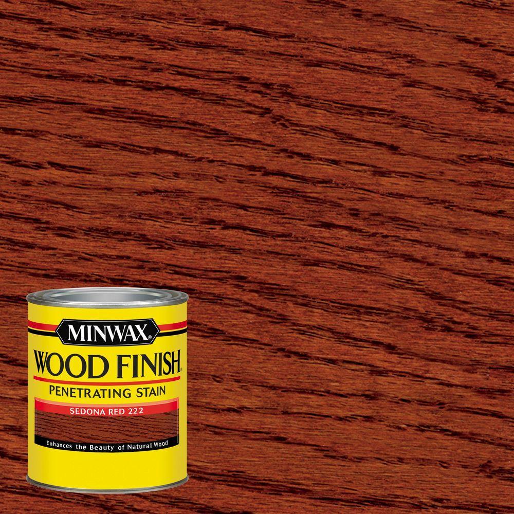 Minwax 1 qt Wood Finish Sedona Red Oil Based Interior