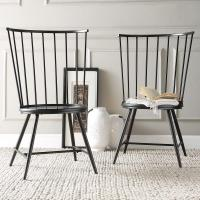 HomeSullivan Walker Black Wood & Metal High Back Dining ...