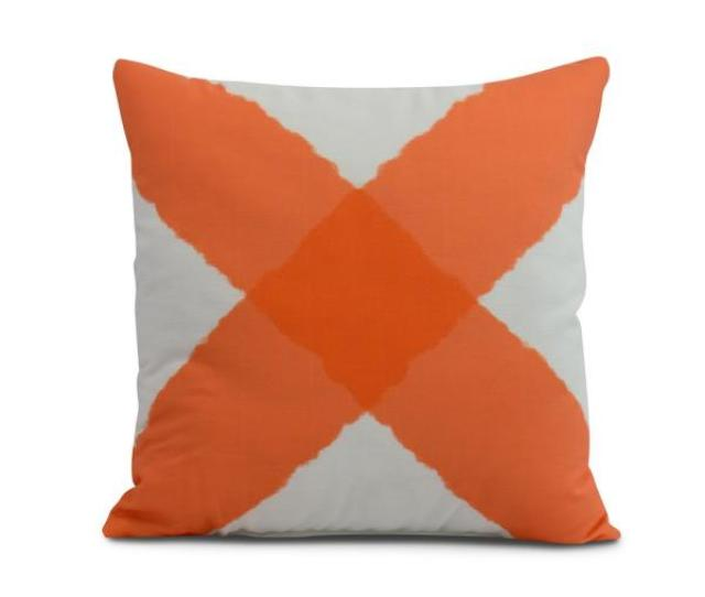 Undefined X Marks The Spot 18 In Orange Decorative Nautical Throw Pillow