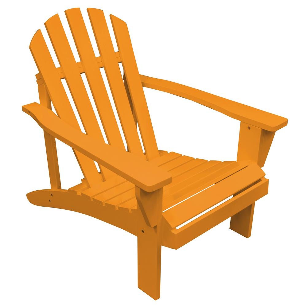 painted adirondack chairs euro chair covers amerihome tangerine orange reclining wood with 802467 the home depot
