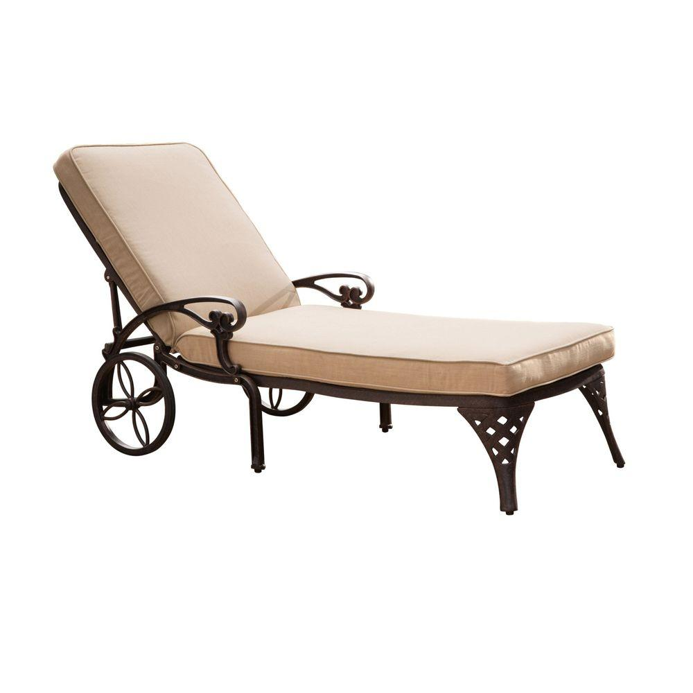 Hampton Bay Fenton Adjustable Patio Chaise Lounge with