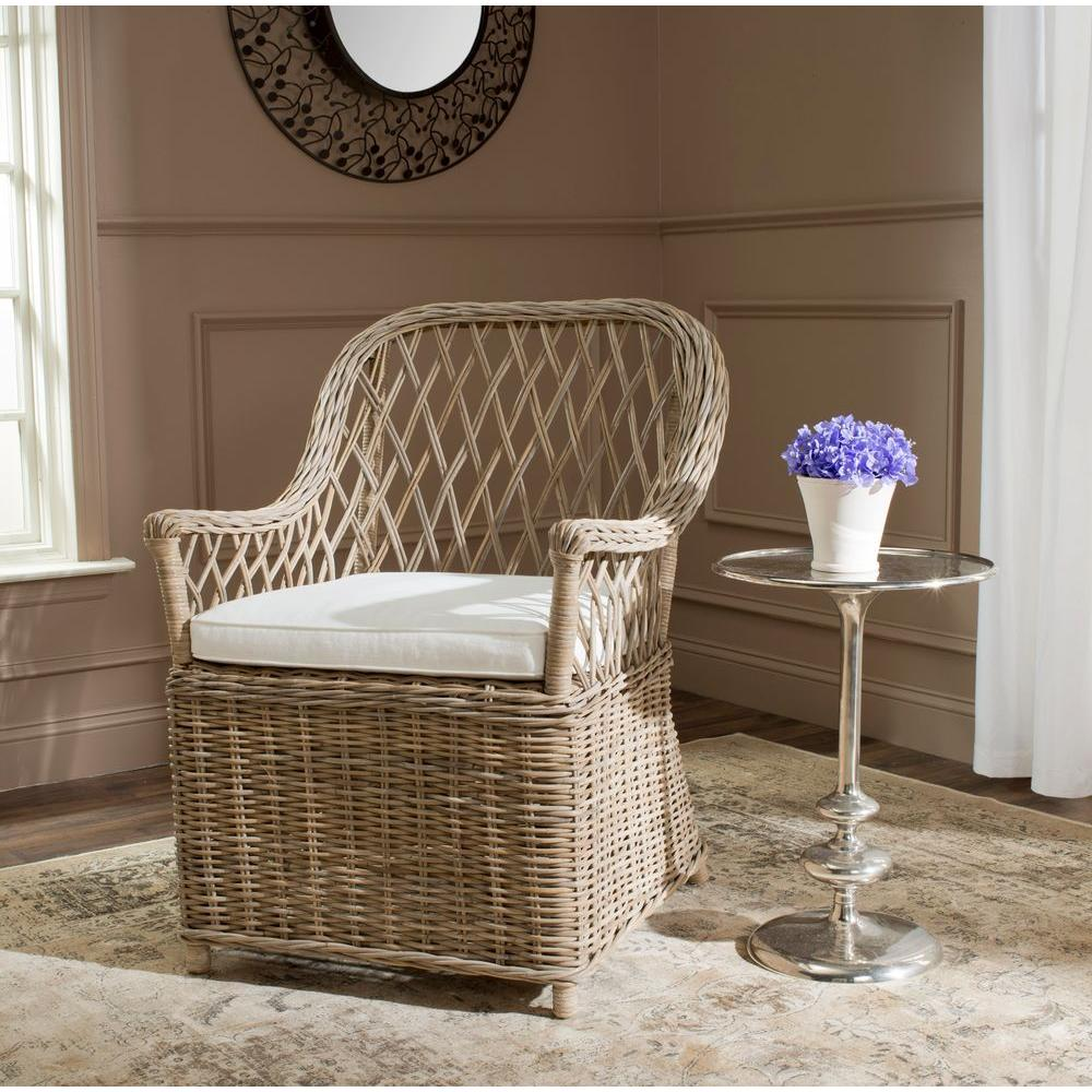 Rattan Accent Chair Safavieh Maluku Natural Rattan Arm Chair