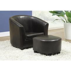Kids Chair And Ottoman Best Ergonomic Chairs Monarch Specialties Dark Brown With I 8103 The Home Depot