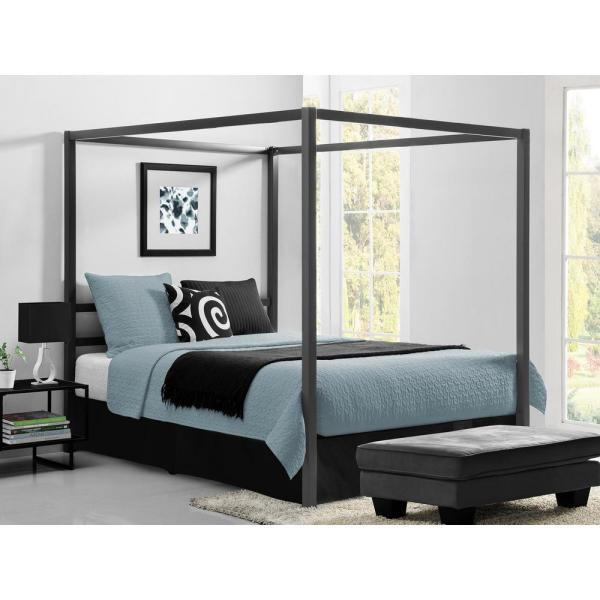 Queen Size Metal Canopy Bed Frame