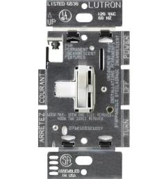 lutron toggler 600 watt single pole 3 way eco dimmer  [ 1000 x 1000 Pixel ]