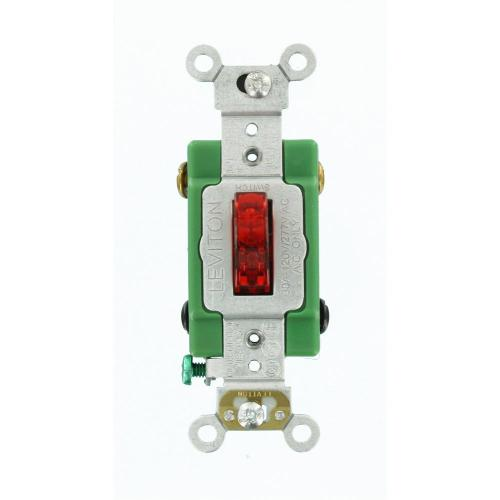 small resolution of leviton 30 amp industrial grade heavy duty double pole pilot light toggle switch red