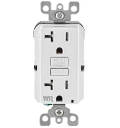 leviton 20 amp 125 volt duplex self test tamper resistant weather outlet receptacle tester faulty wall plug wire finder gfci circuit [ 1000 x 1000 Pixel ]