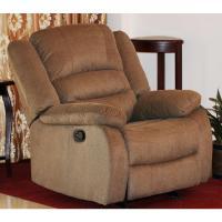 Nadia Contemporary Microfiber Recliner Chair, Dark Brown ...