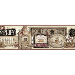 Wall Paper Borders For Kitchens Kitchen And Bath Remodeling Border Black Wallpaper Home Decor The Depot Alfred Red Gathering Room Signs Sample