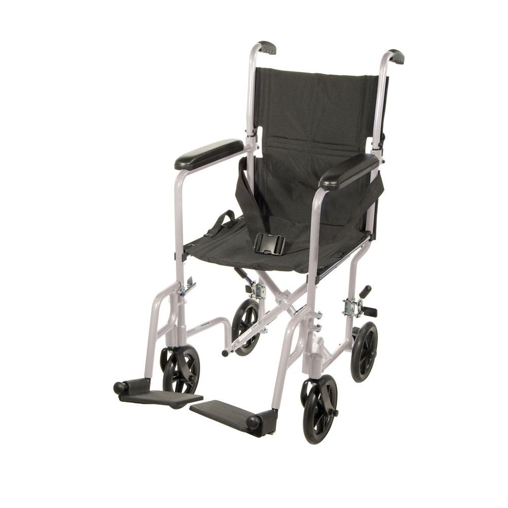 transport wheel chair tree swing drive lightweight wheelchair in silver with 19 seat