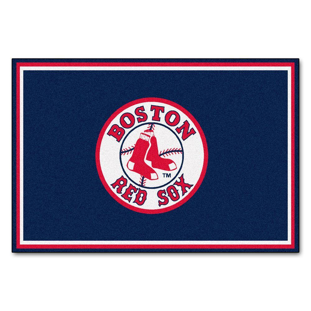 FANMATS Boston Red Sox 5 Ft X 8 Ft Area Rug 6964 The