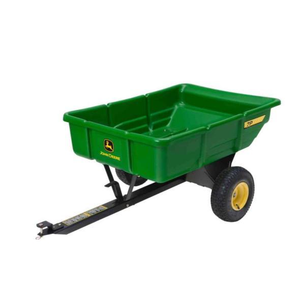 John Deere 450 Lb. 7 Cu. Ft. Tow- Poly Utility Cart-lp21935 - Home Depot