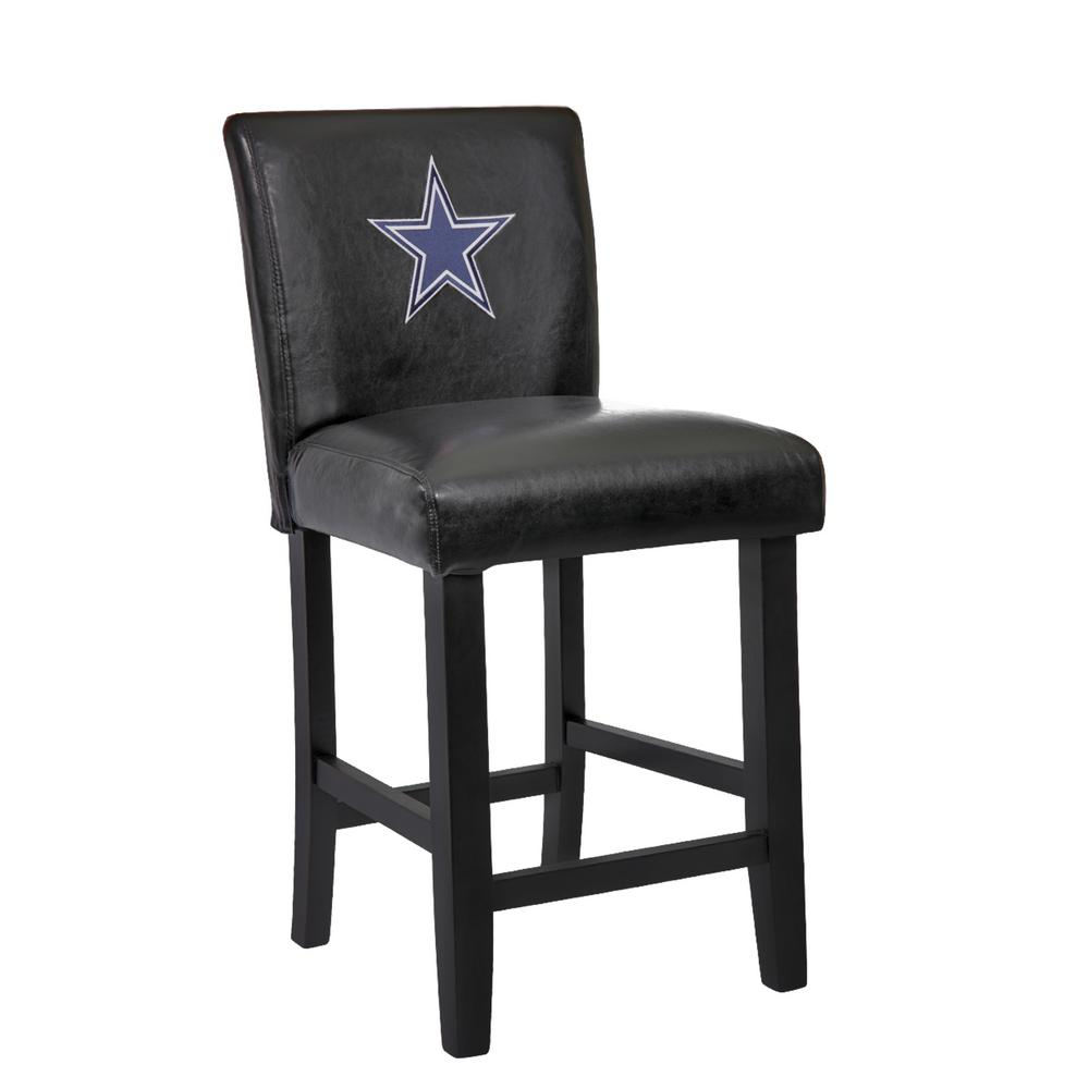dallas cowboys chair cover voom ergonomic in black colour by emperor 24 bar stool with faux leather set of 2 24da the home depot